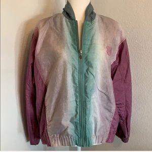 Vintage K-Swiss Purple Green Windbreaker Jacket M